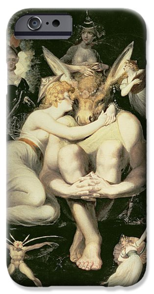 Titania Awakes, Surrounded By Attendant Fairies, Clinging Rapturously To Bottom, Still Wearing IPhone Case by Henry Fuseli