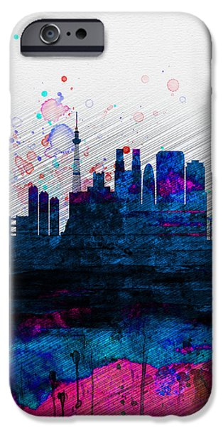 Tokyo Watercolor Skyline 2 IPhone 6s Case by Naxart Studio