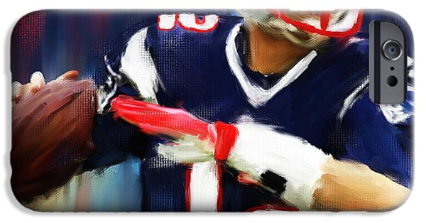 Tom Brady IPhone Case by Lourry Legarde