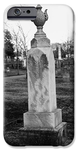Tombstone In Black And White IPhone Case by Robert Hebert