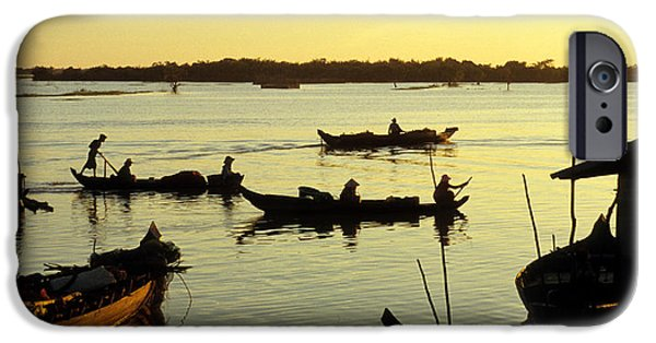 Tonle Sap Sunrise 04 IPhone Case by Rick Piper Photography
