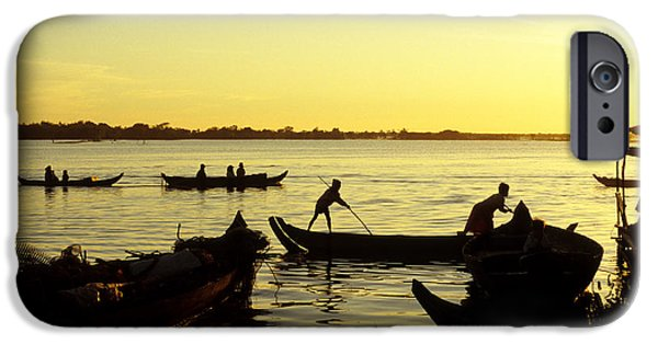 Tonle Sap Sunrise 05 IPhone Case by Rick Piper Photography