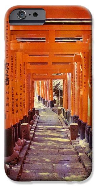 Torii Gates At The Fushimi Inari Shrine IPhone Case by Juli Scalzi