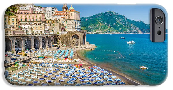 Town Of Atrani IPhone Case by JR Photography