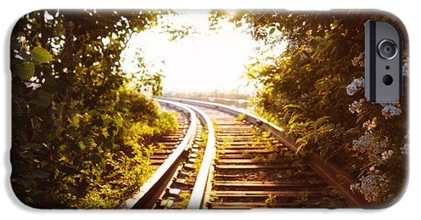 Train Tracks At Sunset IPhone Case by Vivienne Gucwa