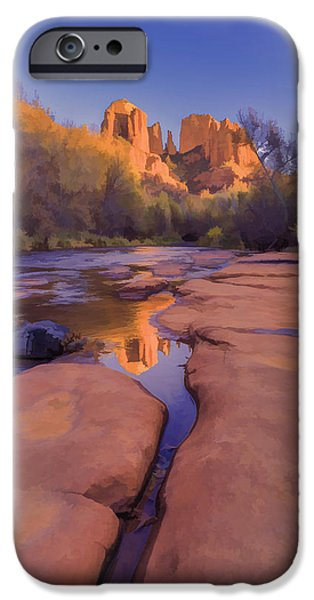 Tranquil Fire Watercolor IPhone Case by Scott Campbell
