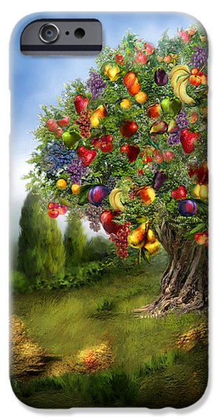 Tree Of Abundance IPhone Case by Carol Cavalaris