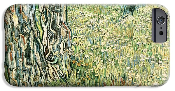 Tree Trunks In Grass IPhone Case by Vincent van Gogh