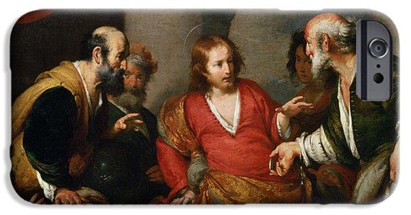 Tribute Money, C.1631 Oil On Canvas IPhone Case by Bernardo Strozzi