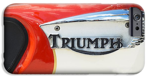 Triumph Tiger 90 Tank Badge IPhone Case by Tim Gainey