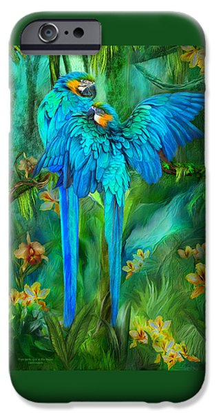 Tropic Spirits - Gold And Blue Macaws IPhone 6s Case by Carol Cavalaris