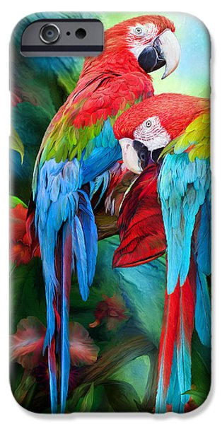 Tropic Spirits - Macaws IPhone 6s Case by Carol Cavalaris