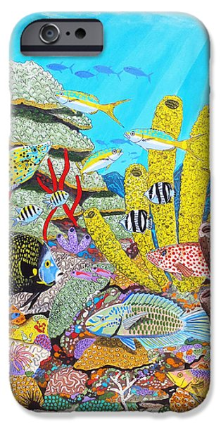 Tropical Reef IPhone Case by Carey Chen