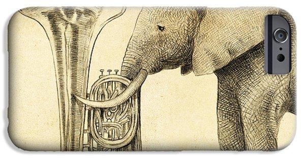 Tuba IPhone Case by Eric Fan