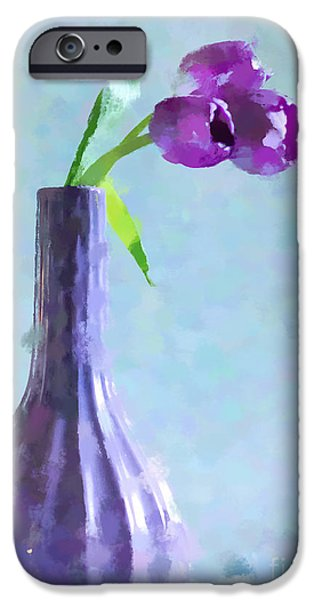 Tulip Abstract IPhone Case by Betty LaRue