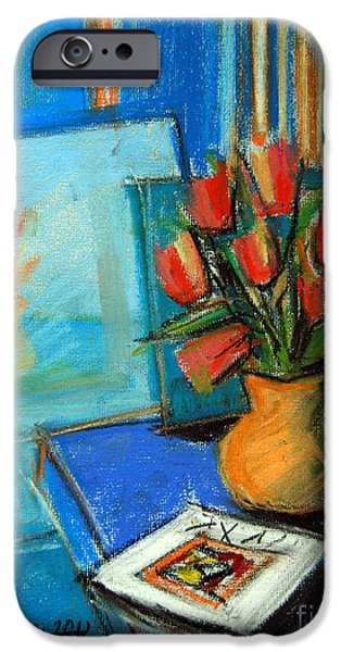 Tulips In The Mirror IPhone Case by Mona Edulesco