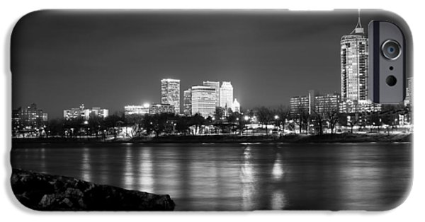 Tulsa In Black And White - University Tower View IPhone 6s Case by Gregory Ballos
