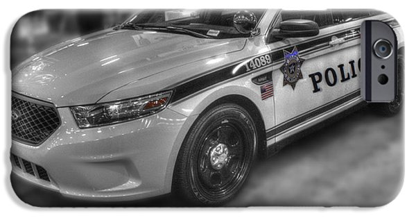 Tulsa Police At State Fair P1 IPhone Case by John Straton
