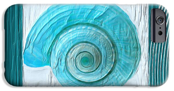 Turquoise Seashells Xvii IPhone Case by Lourry Legarde