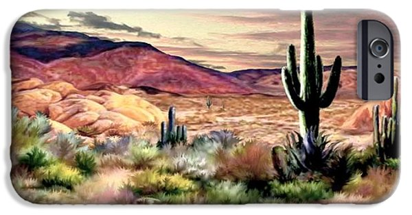 Twilight On The Desert  2 IPhone Case by Ron Chambers