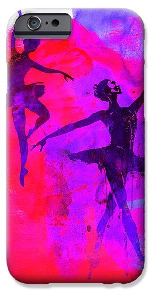Two Dancing Ballerinas 3 IPhone Case by Naxart Studio