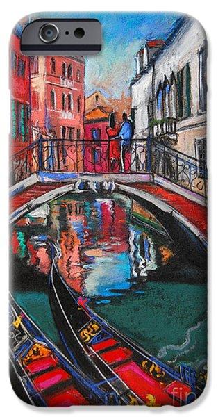 Two Gondolas In Venice IPhone Case by Mona Edulesco