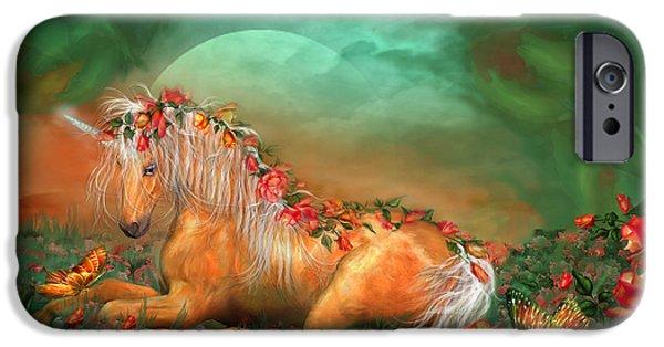 Unicorn Of The Roses IPhone 6s Case by Carol Cavalaris