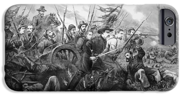 Union Charge At The Battle Of Gettysburg IPhone Case by War Is Hell Store