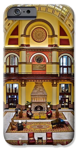 Union Station Hotel Lobby IPhone Case by Frozen in Time Fine Art Photography