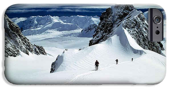 Upper Fox Glacier Westland Np New IPhone Case by Panoramic Images
