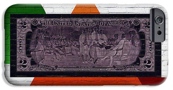 Urban Graffiti - Us Two Dollar Bill Reverse IPhone Case by Serge Averbukh