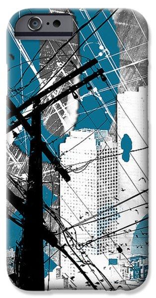 Urban Grunge Blue IPhone Case by Melissa Smith