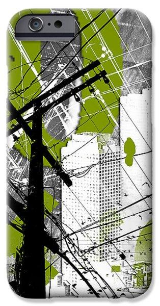 Urban Grunge Green IPhone Case by Melissa Smith