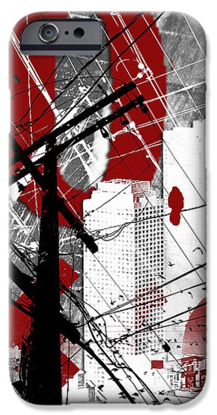 Urban Grunge Red IPhone Case by Melissa Smith