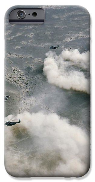 Us Helicopters Landing In Afghanistan IPhone 6s Case by U.s. Marine Corps
