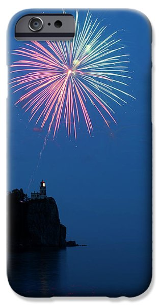 Usa, Minnesota, Two Harbors, Split Rock IPhone Case by Peter Hawkins