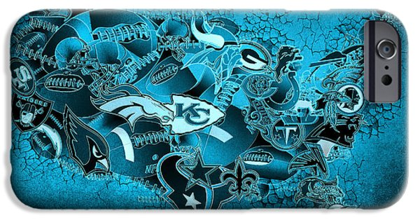 Usa Nfl Map Collage 13 IPhone Case by Bekim Art