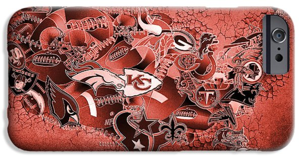 Usa Nfl Map Collage 14 IPhone Case by Bekim Art