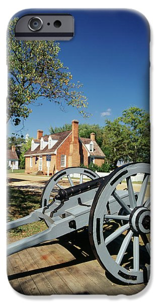 Usa, Virginia, Yorktown, Cannon IPhone Case by Walter Bibikow