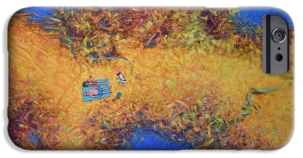 Vacationing On A Painting IPhone Case by James W Johnson