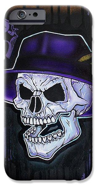 Vato Skull IPhone Case by Jon Jochens