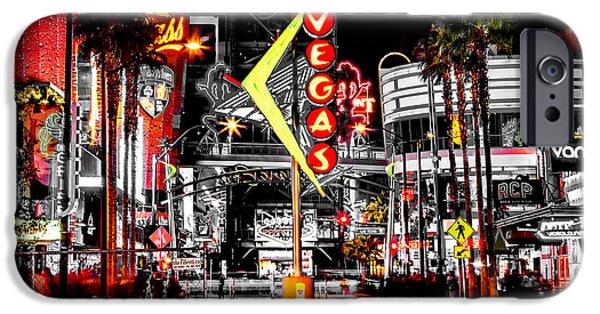 Vegas Nights IPhone Case by Az Jackson