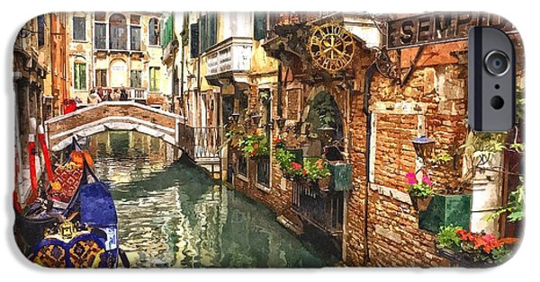 Venice Canal Serenity IPhone Case by Gianfranco Weiss