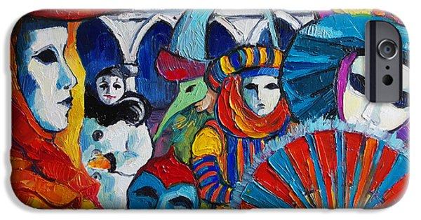 Venice Carnival IPhone Case by Mona Edulesco