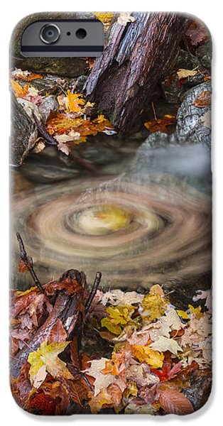 Vermont Autumn Fall Waterfall Forest IPhone Case by Andy Gimino