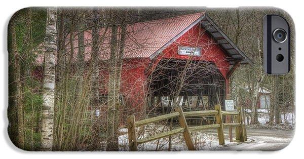 Vermont Covered Bridge - Stowe Vermont IPhone Case by Joann Vitali