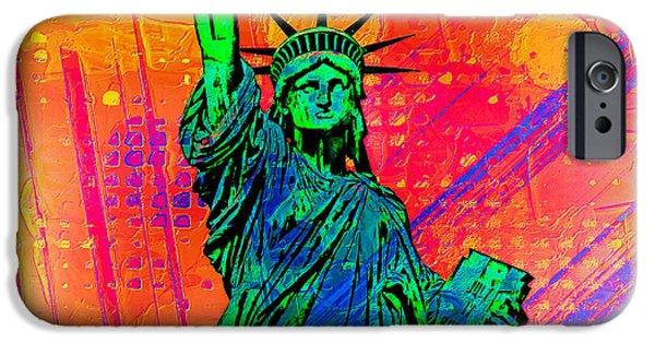 Vibrant Liberty IPhone Case by Az Jackson