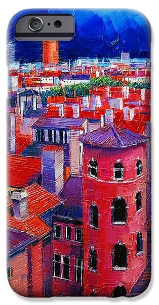 Vieux Lyon Rooftops  IPhone Case by Mona Edulesco
