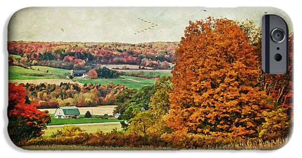 View From The Hill... IPhone Case by Lianne Schneider