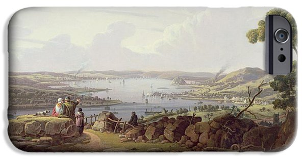 View Of Greenock, Scotland IPhone Case by Robert Salmon